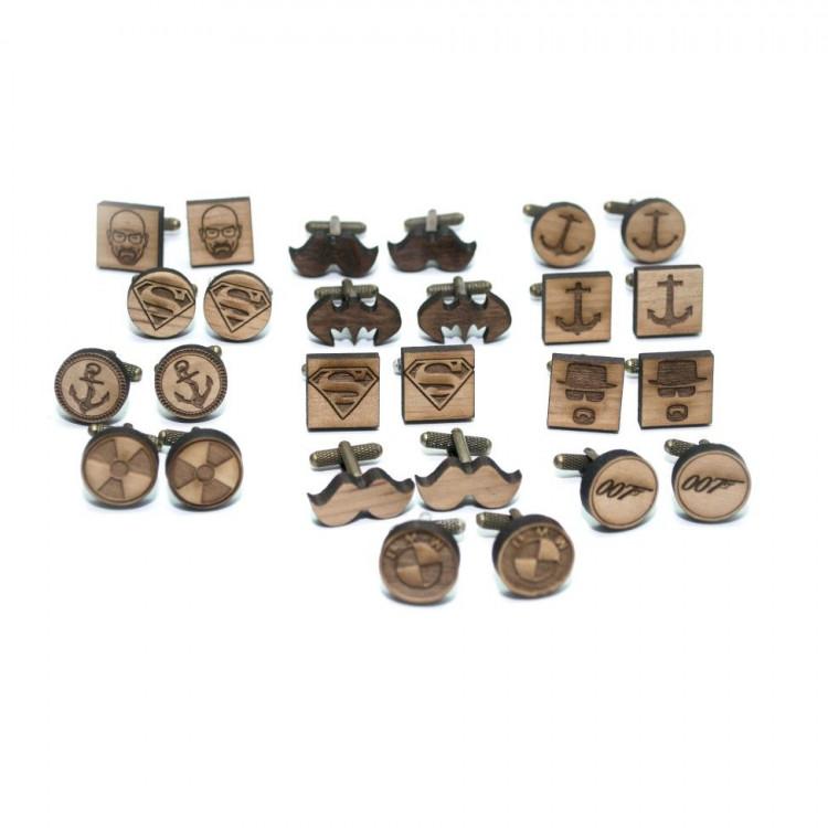Дерев яні запонки круглі 007 DZP-0612 купити в Києві 652dfb2b7cadf