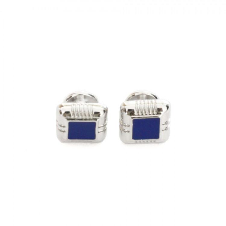 Запонки з синьою серединкою ZPH-1081 купити в Києві a7d95c4091299