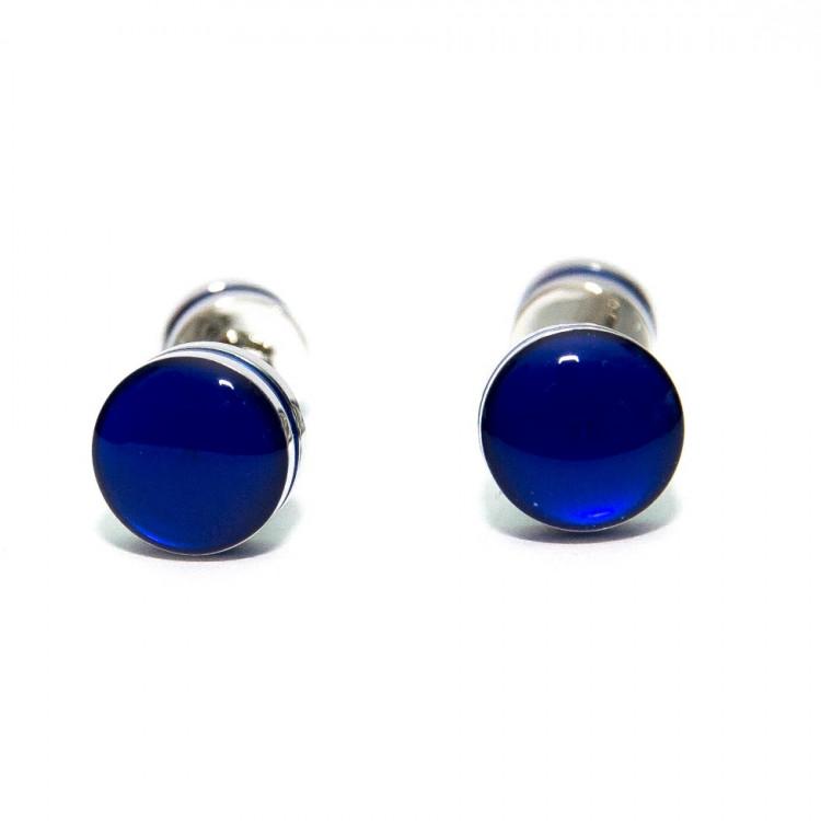 Запонки Круглі сині ZPH-1245 купити в Києві 7b1291e68efd3
