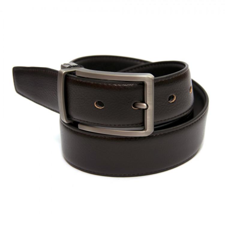 Двосторонній шкіряний ремінь коричневий-чорний Z-350763 купити в Києві 5fd15074251eb