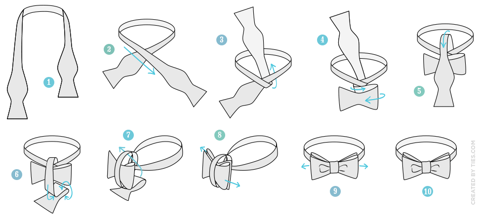Завязать галстук бабочку картинка